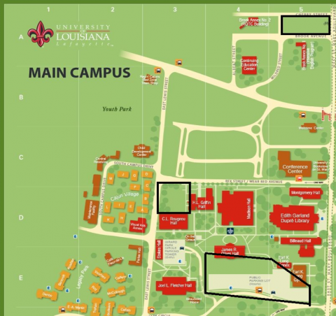 ul lafayette campus map The Big Event Schedule Office Of First Year Experience ul lafayette campus map